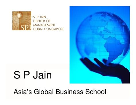 What Is Global Mba by Sp Jains Global Mba