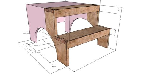 Shaker Step Stool by Shaker Step Stool Dimensions Plans Free