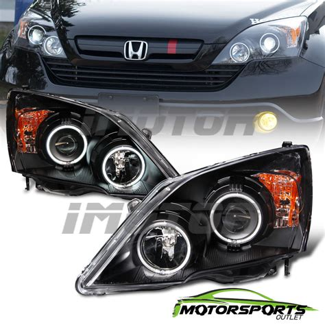 All New Crv Chrome List Sing 1 dual ccfl halo 2007 2008 2009 2010 2011 honda crv projector black headlights ebay