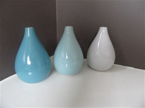 Duck Egg Blue Vase by New Teal Duck Egg Blue White Bud Vase Set Of 3 Boxed Ebay