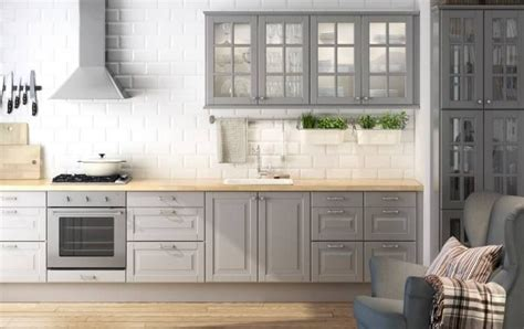 grey kitchen cabinets ikea kitchen ideas