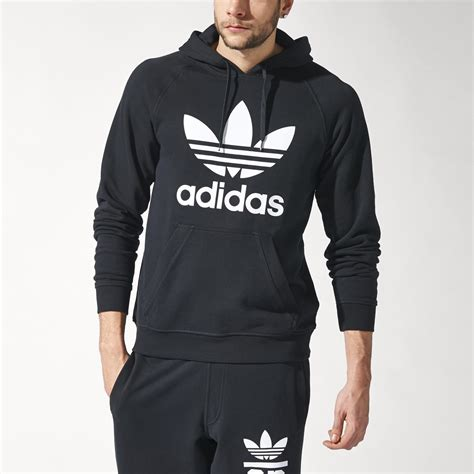 Sweater Hoodie Zipper Adidas Trefoil Polyflex adidas trefoil hoodie black adidas uk