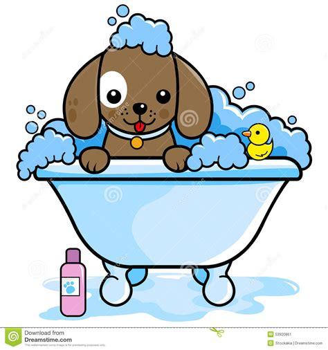 dog in the bathtub dog washing noten animals