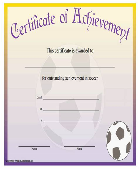generic certificate templates 32 free award certificate