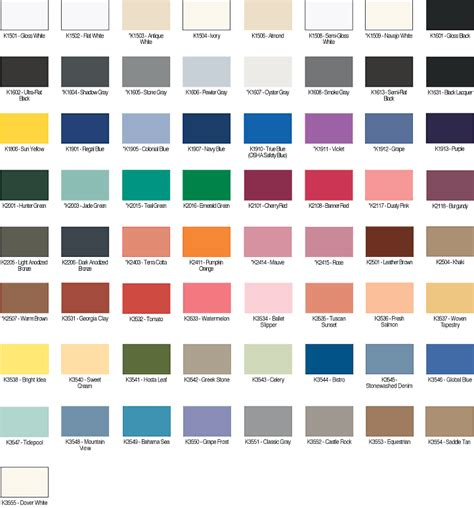 paint color charts exterior kwal color paint chart home design paint