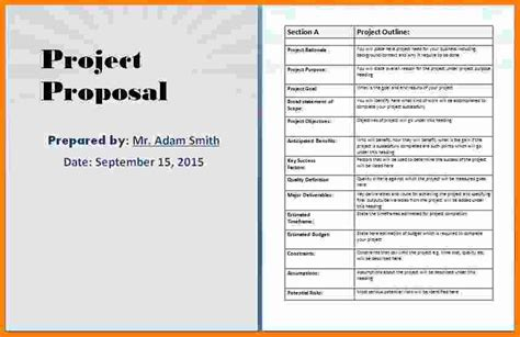 9 Microsoft Word Project Proposal Template Ledger Paper Microsoft Word Project Template