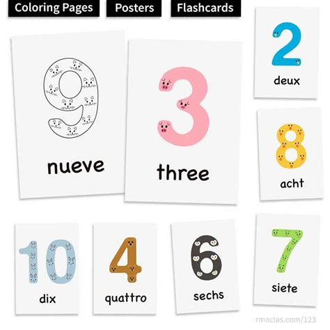 printable number flashcards for toddlers 1 10 animal numbers for kids free multilingual printables