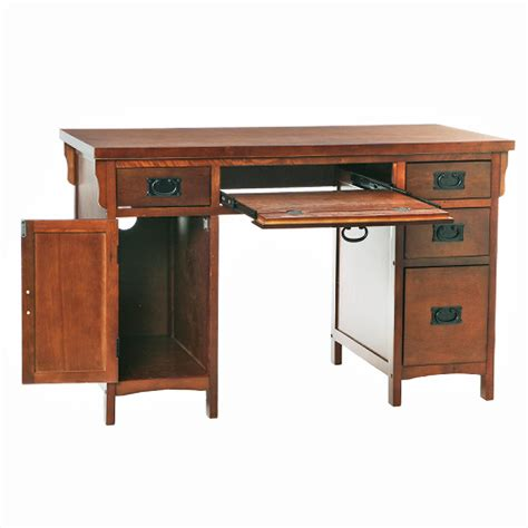 pretty computer desk on sei mission brown mahogany