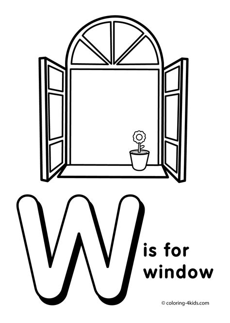 letter w coloring pages preschool letter w coloring pages coloring pages pinterest