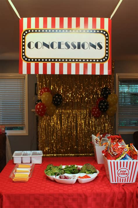 themed party movies 5m creations movie night 13th birthday party