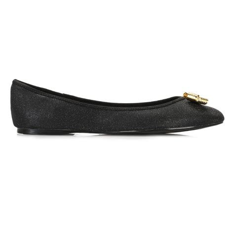 ted baker flat shoes ted baker womens flats black sparkle ballerina leather