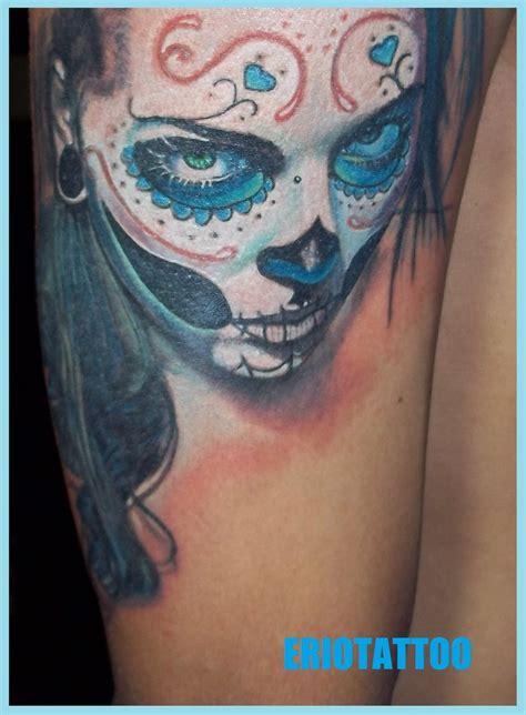 tattooed santa santa muerte by eriotattoo on