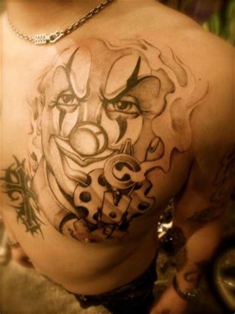 joker face tattoo  chest tattoo  itattooz