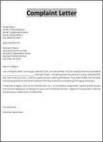Letter To Employer Template by Formal Letter Of Complaint To Employer Template