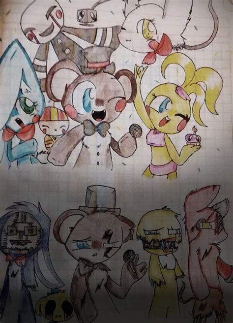Fnaf 1 Sketches by Fnaf 2 Drawing By Fnafkitnn123 Toys Fnaf 2