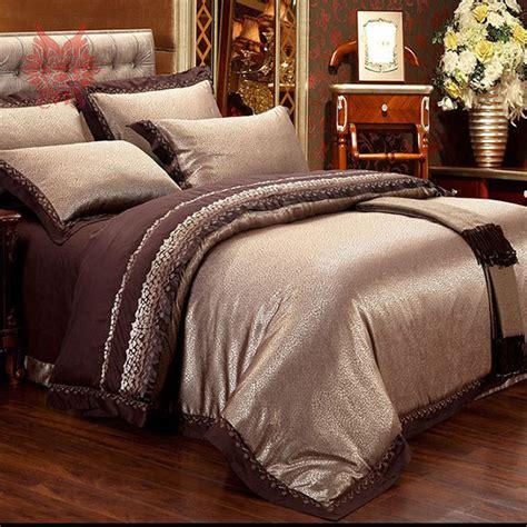 Sprei Tencel Jacquard 160x200x30 1 home textile brown jacquard bedding set cotton tencel