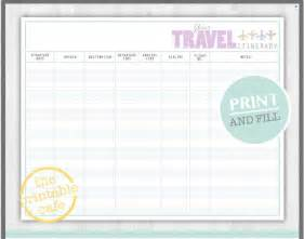 Trip Journal Template by 10 Itinerary Template Exles Templates Assistant