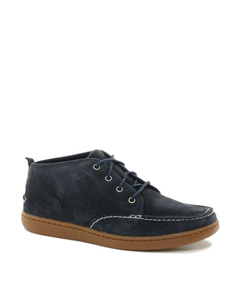 blue timberland boots mens timberland earthkeeper newmarket leather chukka boots in