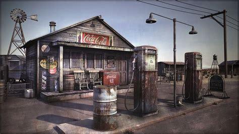 the dollhouse q concept store desert gas station by omessler on deviantart 3d