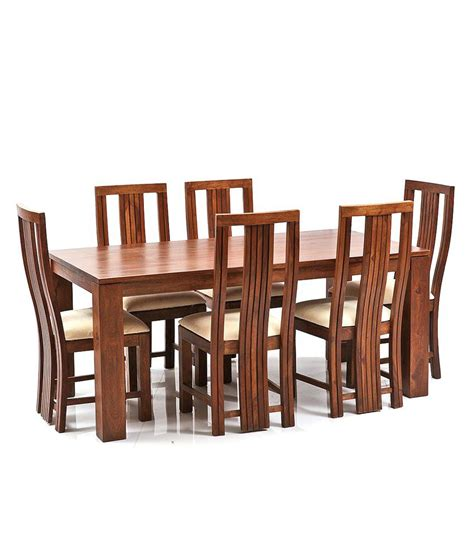 Solid Wood 6 Seater Dining Set Buy Solid Wood 6 Seater Dining Set At Best Prices In Solid Wood 6 Seater Dining Set