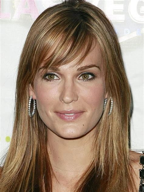 molly sims chin length for thin fine hair the best and worst bangs for long face shapes beautyeditor