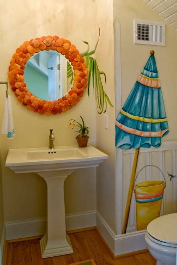 themed bathroom ideas wall decal in beach bathroom theme home interiors
