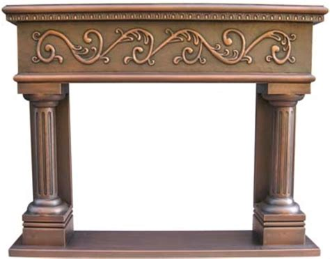 copper fireplace mantel custom design copper mantels