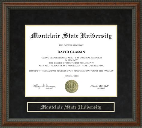 Nyu Mba Diploma Frame by Montclair State Diploma Frame Wordyisms