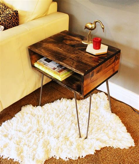diy diy hairpin leg side table