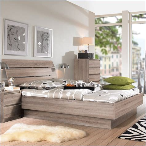 tvilum scottsdale 2 pc platform bed set in truffle - Cymax Schlafzimmer Sets