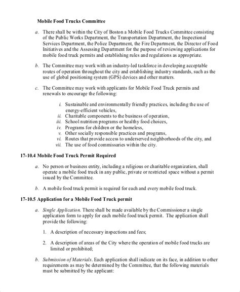11 Sle Food Truck Business Plans Pdf Word Pages Sle Templates Food Truck Business Plan Template