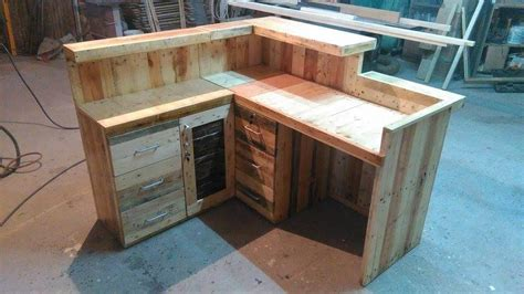 pallet office desk reception desk  pallets