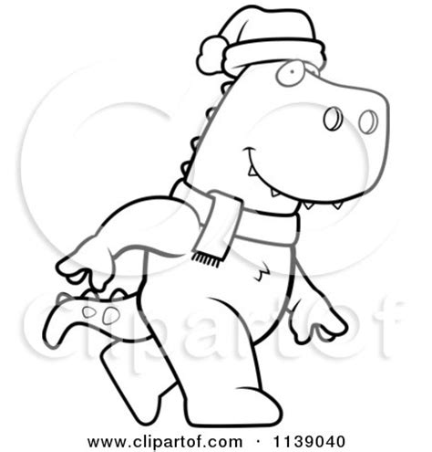 christmas dinosaurs coloring pages cartoon of a frightened tyrannosaurus rex dinosaur