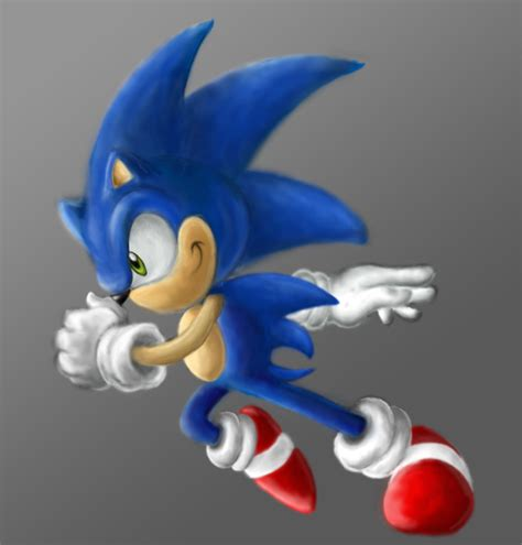 painting sonic sonic painting by keywee on deviantart