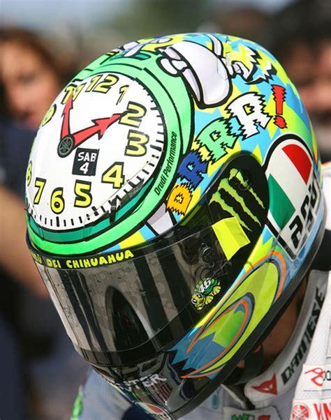 design helmet rossi valentino rossi clock time to wake up helmet misano