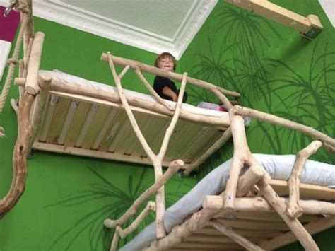powertokids how to make your bed for kids by a kid youtube this father built his kids loft beds using wood found in