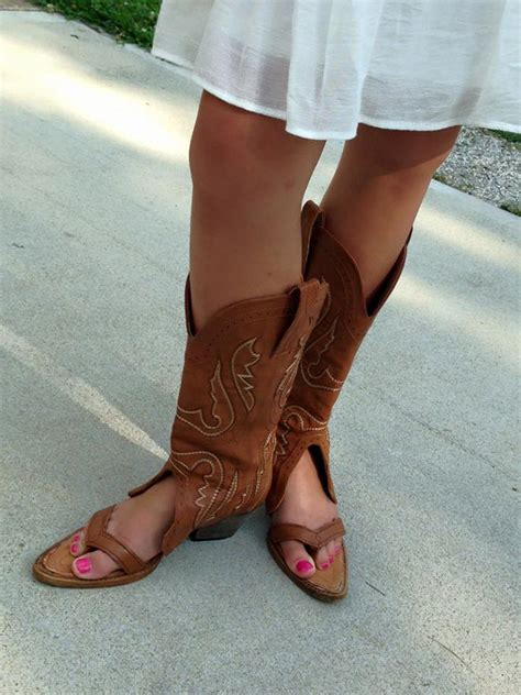cowboy boot sandals the latest fashion trend
