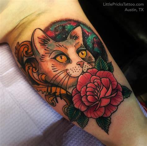 jewel tattoo studio space cat by tita