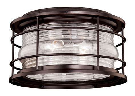 nautical flush mount ceiling light vaxcel lighting t0166 burnished bronze hyannis 2 light