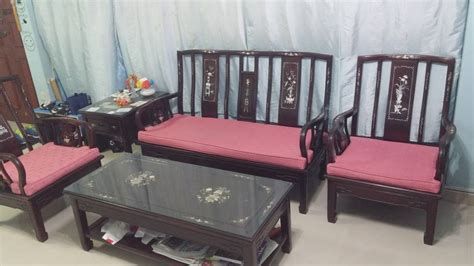 used sofa singapore used rosewood sofa set with tv console for sale