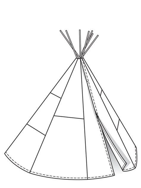 teepee template tipi 07 2013 149 free pattern teepees and patterns
