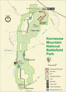 kennesaw moutain national battlefield park map kennesaw