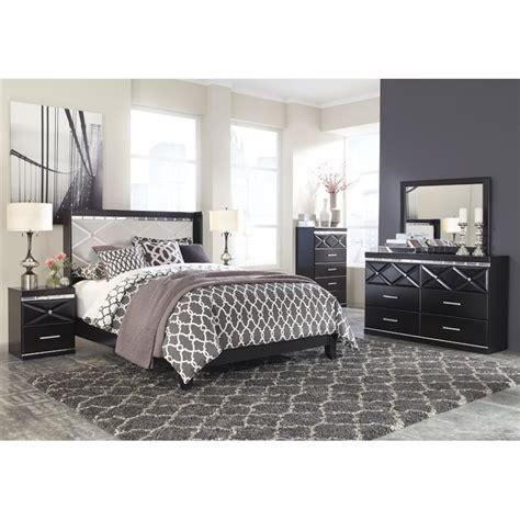 ashley bedroom set black ashley fancee 5 piece queen panel bedroom set in black