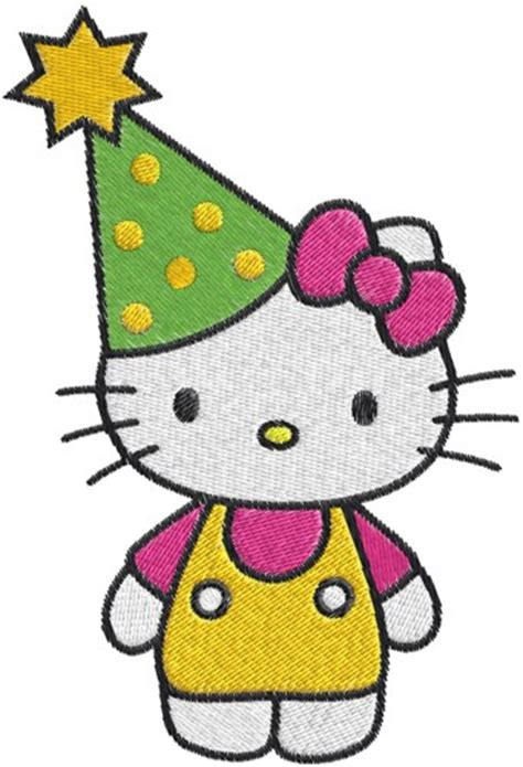 embroidery design hello kitty hello kitty birthday machine embroidery design 0563
