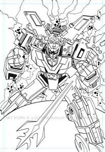 voltron colouring pages