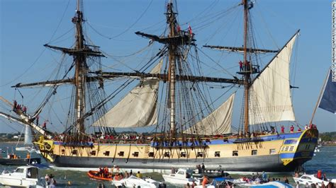 eighteenth century boats hermione frigate sets sail cnn