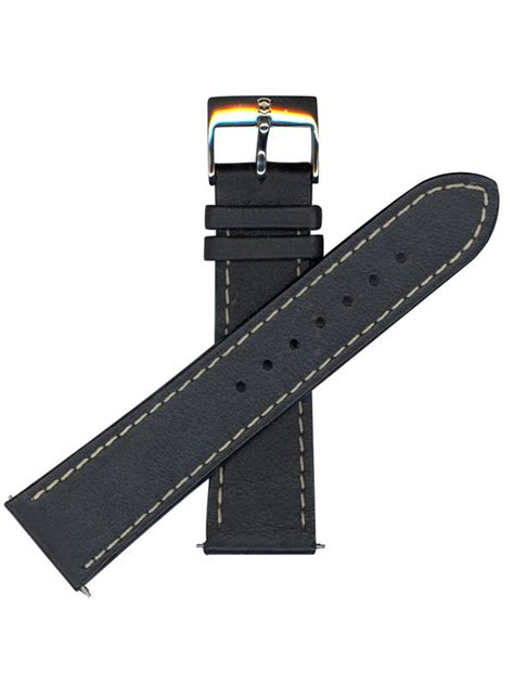 Swiss Army 24038 Ring Black Leather swiss army brand 002094 infantry chrono series 23mm black leather watchband 046928965045