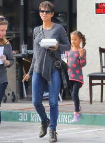 Halle Berry looks casual as she enjoys some time off with