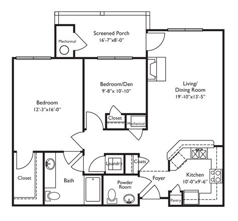 Floor Plans For Retirement Homes Looks Wheelchair Accessible Screened Porch Is A Nice Touch | retirement home floor plans inspirational floor plans for