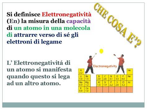 il legame chimico elettronegativita